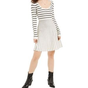 Guess Nash striped fit flare dress